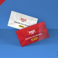 Floating Business Card Mockup PSD