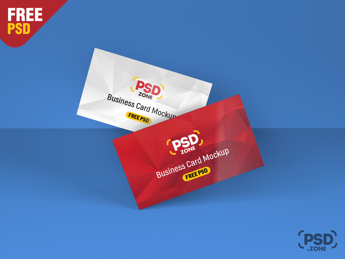 Floating business card mockup psd psd zone floating business card mockup psd reheart Images