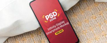 Infinity Display Smartphone Mockup