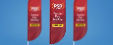 Feather Flag Mockup Free PSD