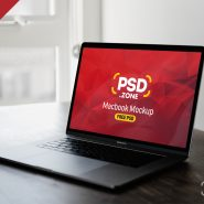 Gray Macbook Pro Mockup PSD