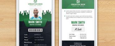 Identity Card Design Free PSD