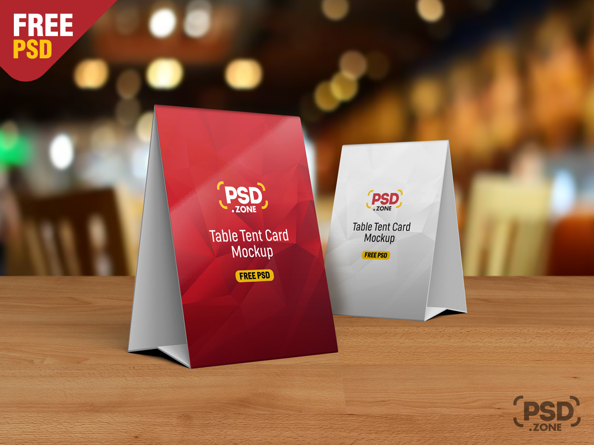 table tent card mockup psd psd zone