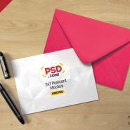 5×7 Postcard Mockup PSD