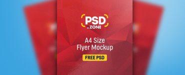 A4 Size Flyer Mockup PSD