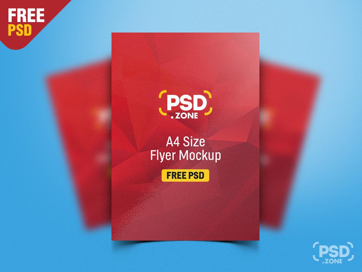 a4 flyer mockup free download