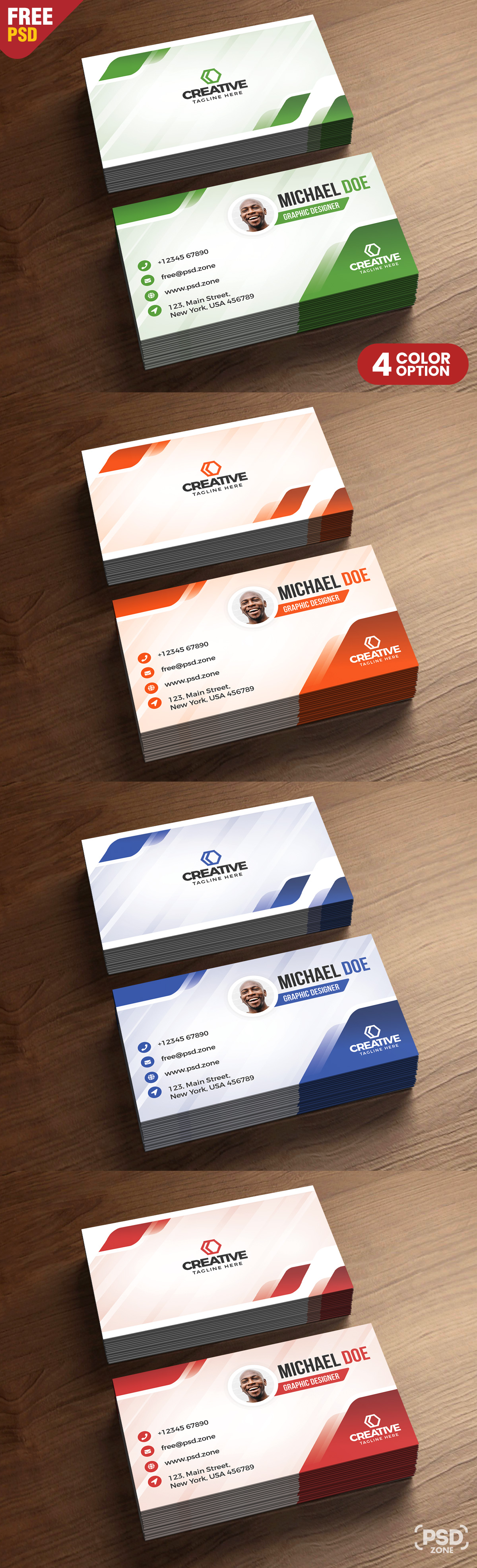 Modern Business Cards Design PSD