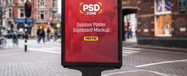 Outdoor Poster Signboard Mockup PSD
