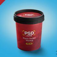 Plastic Bucket Mockup Free PSD