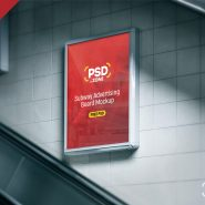 Subway Advertising Board Mockup PSD