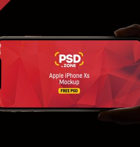 iPhone Xs Hand Mockup PSD