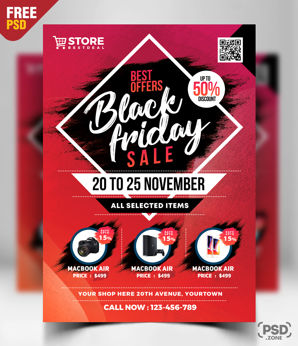 Black Friday Sale Flyer Free PSD