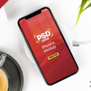 Clean iPhone X Mockup PSD