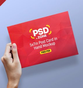 Greeting Card and Postcard Mockup PSD