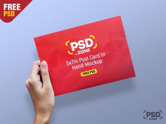 Greeting Card and Postcard Mockup PSD