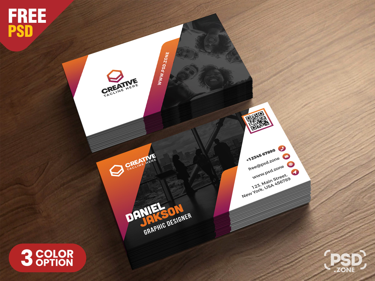 Psd Business Card Design Free Templates Zone