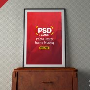 PSD Photo Poster Frame Mockup