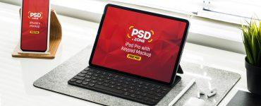 iPad Pro with iPhone X Mockup PSD