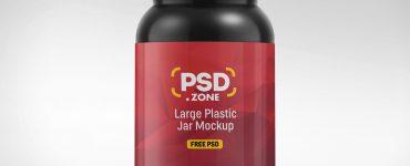 Large Plastic Jar Mockup PSD