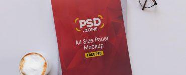PSD A4 Size Paper Mockup