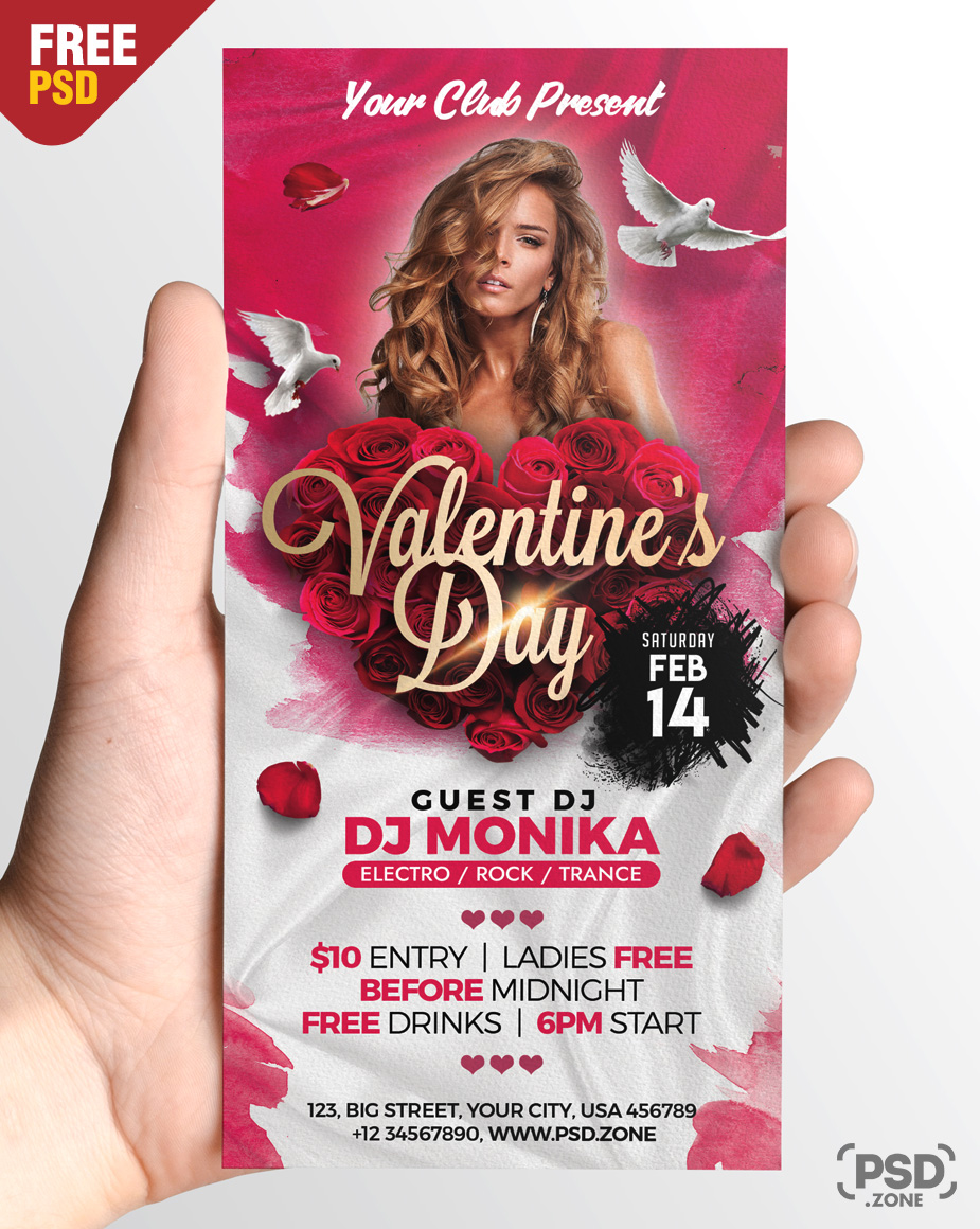 PSD Valentines Day Party DL Flyer