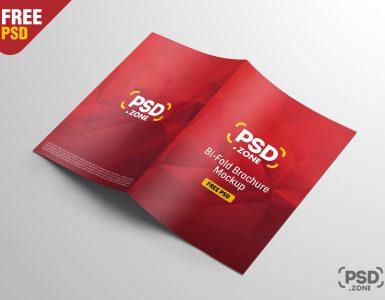 A4 Bi-Fold Brochure Mockup Free PSD