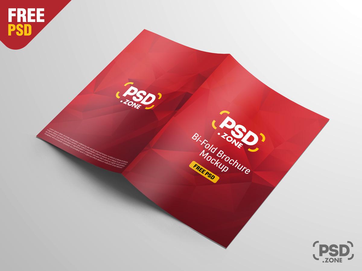 A4 Bi Fold Brochure Mockup Free Psd Psd Zone