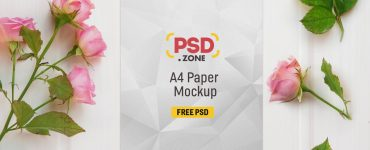 A4 Paper Mockup Free PSD