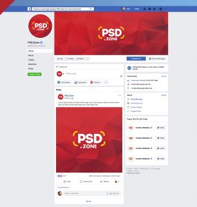 Facebook Page Mockup 2019 Template PSD