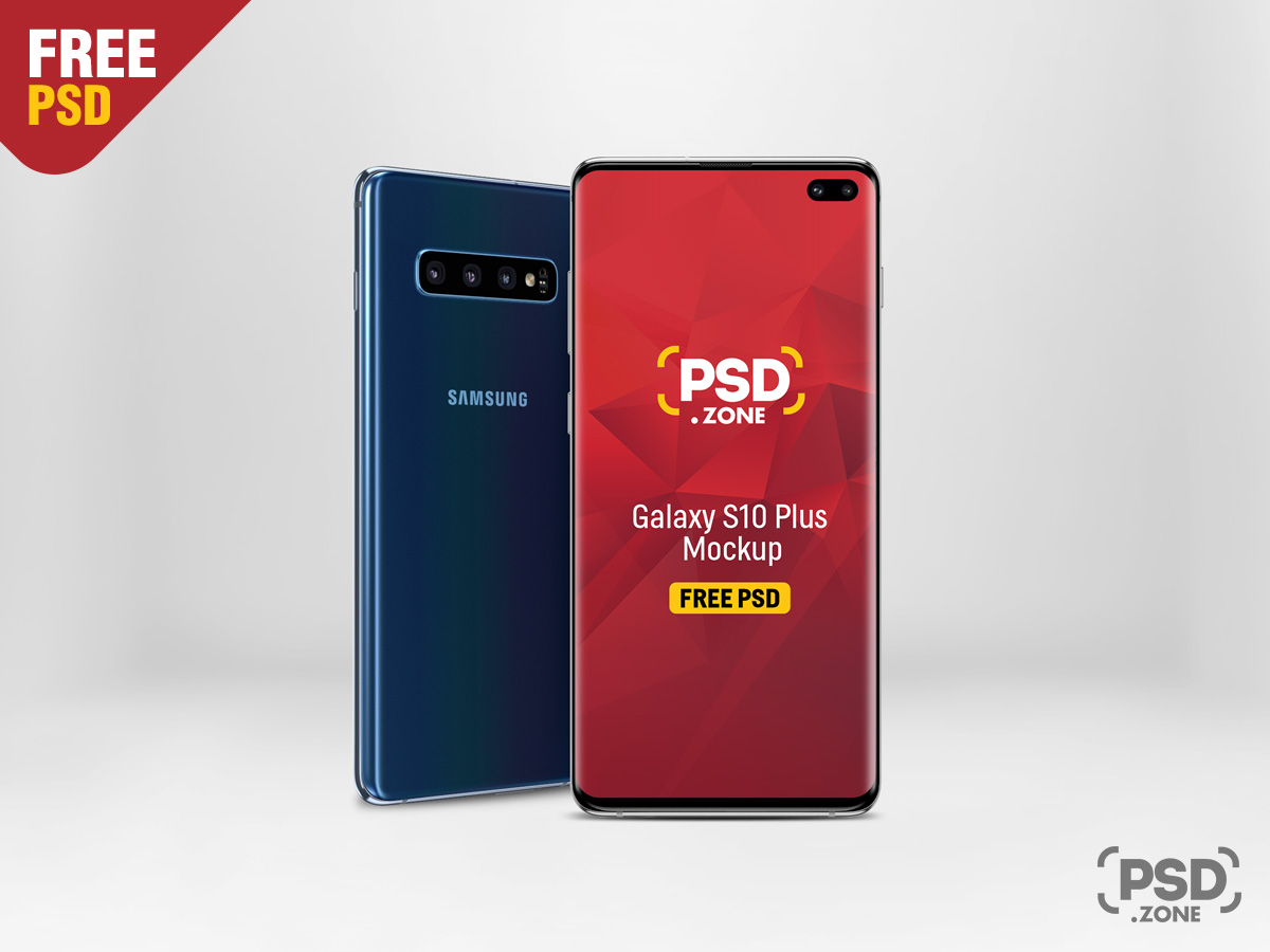 Galaxy S10 Plus Mockup PSD - PSD Zone
