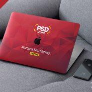 MacBook Pro Skin Design Mockup PSD