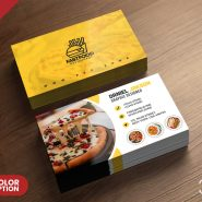 PSD Fast Food Restaurant Business Card Design