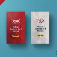 PSD Vertical Business Card Mockup