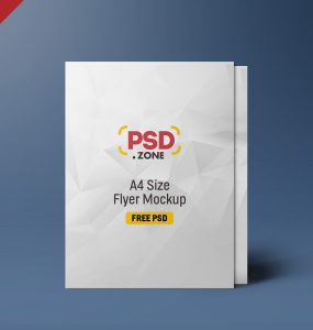 Standing A4 Size Flyer Mockup PSD