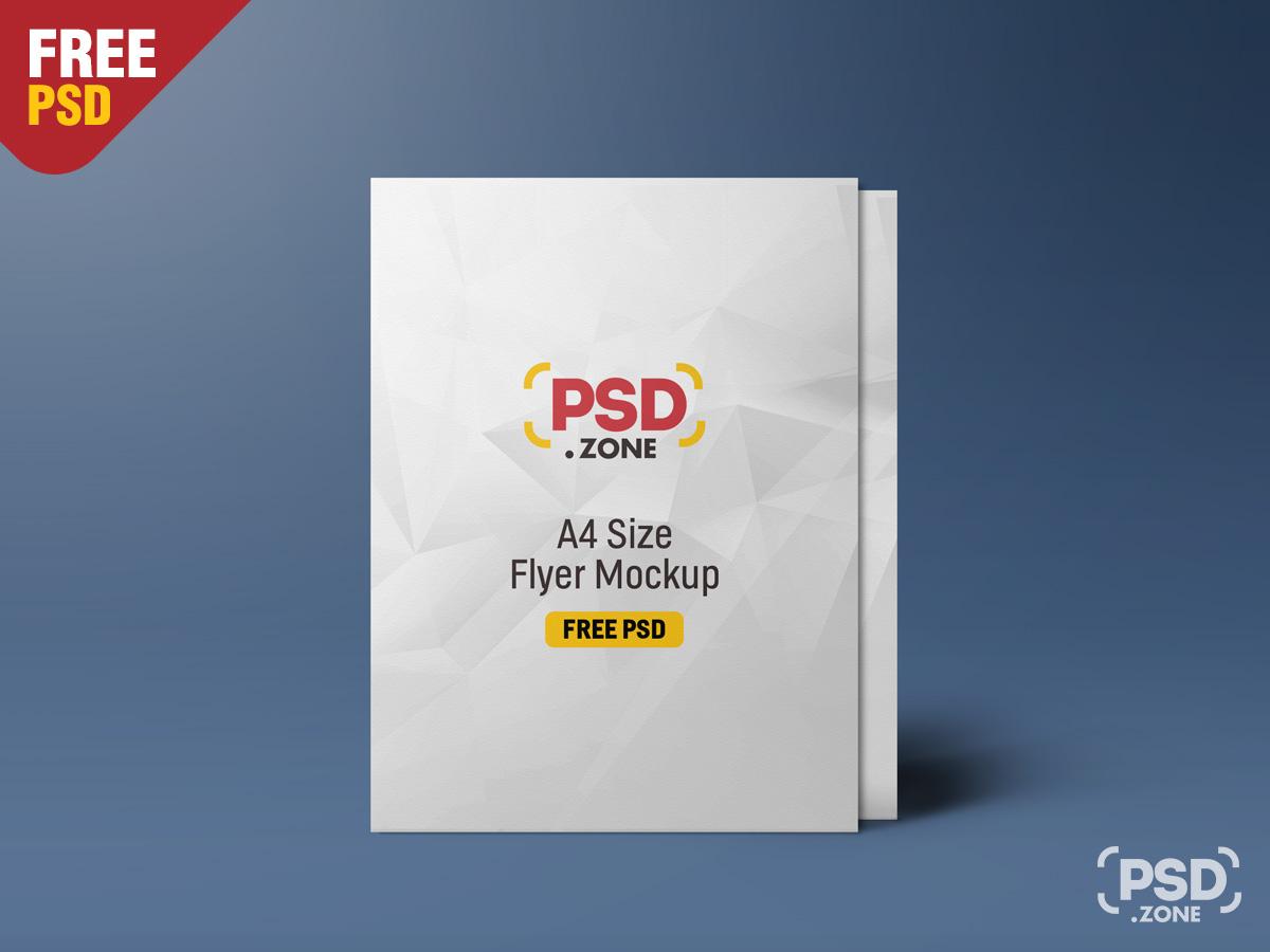 Standing A4 Size Flyer Mockup Psd Psd Zone