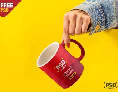 Hand Holding Coffee Mug Mockup