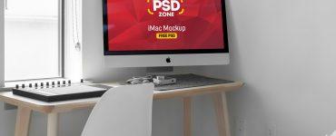 iMac on Desk Mockup PSD