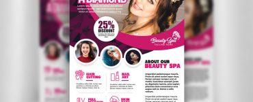 Beauty Salon Flyer Template PSD