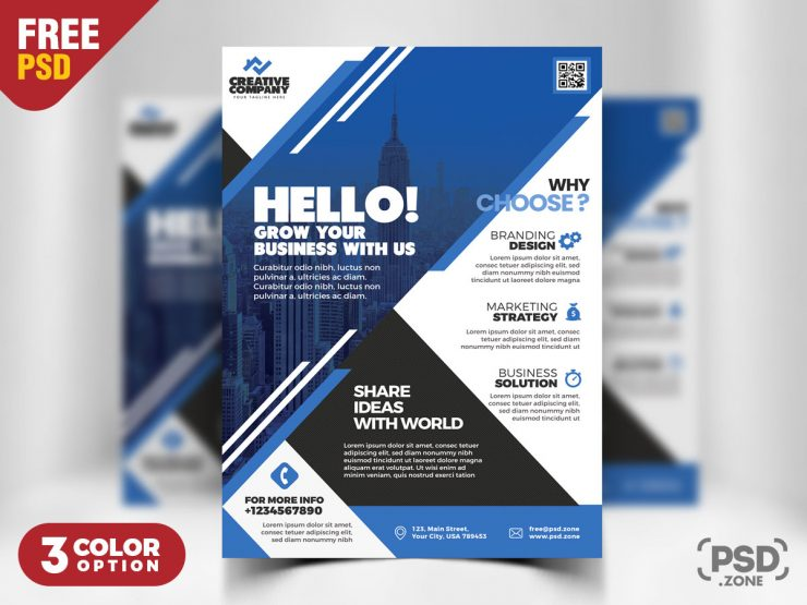 Corporate Flyer PSD Templates