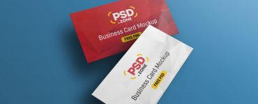 Floating Business Card Mockup PSD Template