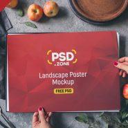 Landscape Poster Mockup PSD