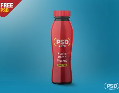 Plastic Bottle Mockup PSD