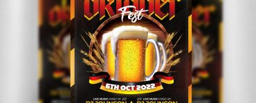 Awesome Oktoberfest Flyer PSD