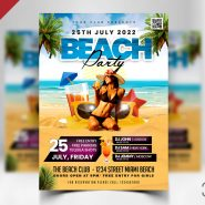 Beach Party Flyer Template PSD
