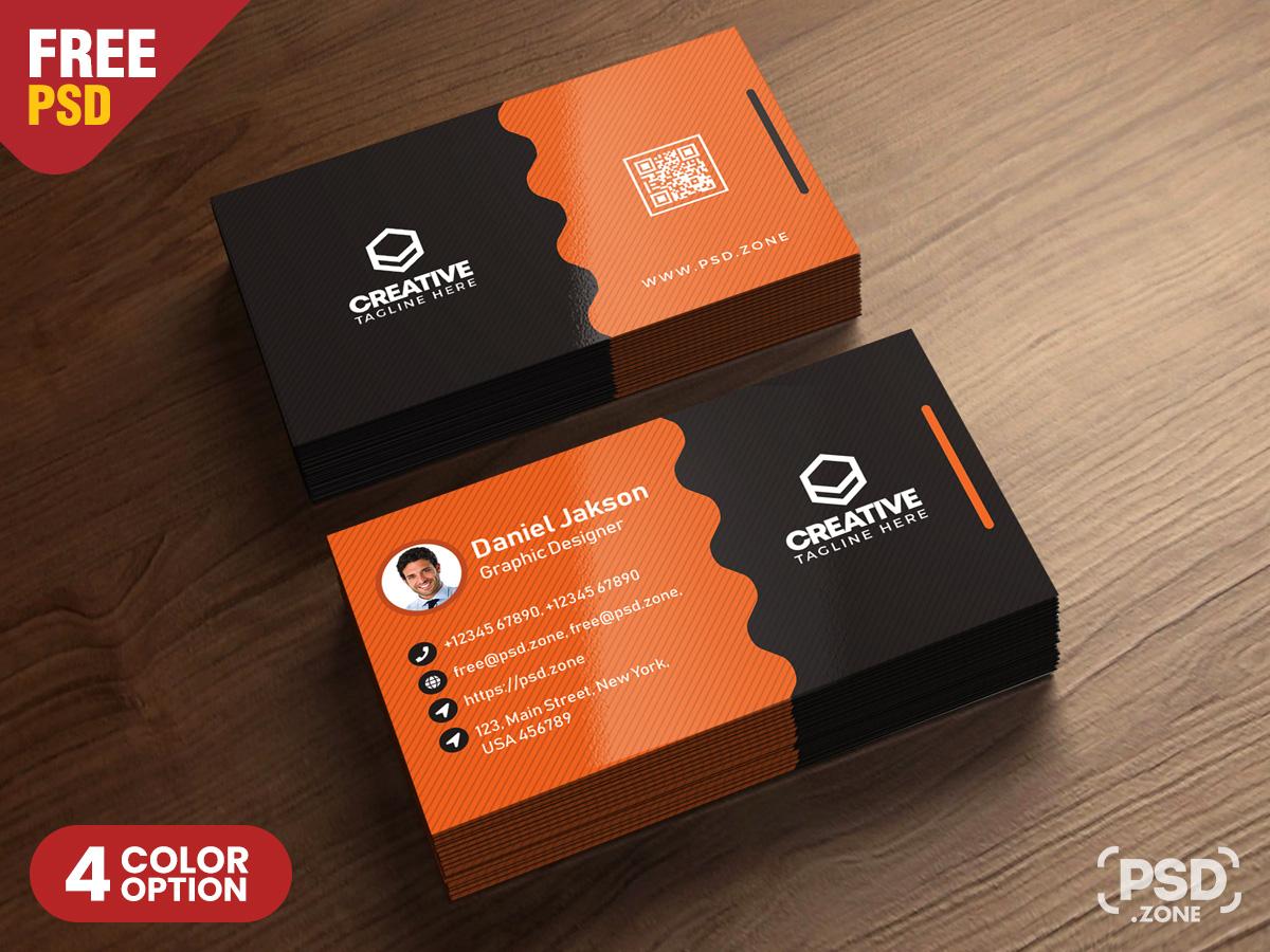 Clean Business Card Psd Templates