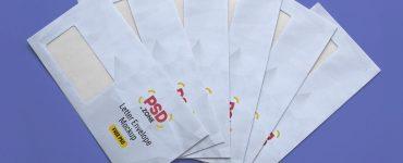 Corporate Brand Letter Envelope Mockup PSD