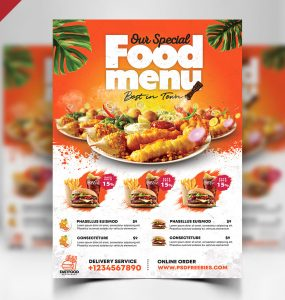 Fast Food Restaurant Flyer PSD