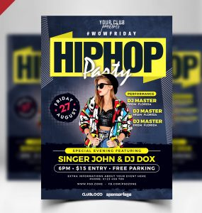 Nightclub Party Flyer PSD