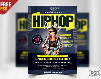 Nightclub Party Flyer PSD
