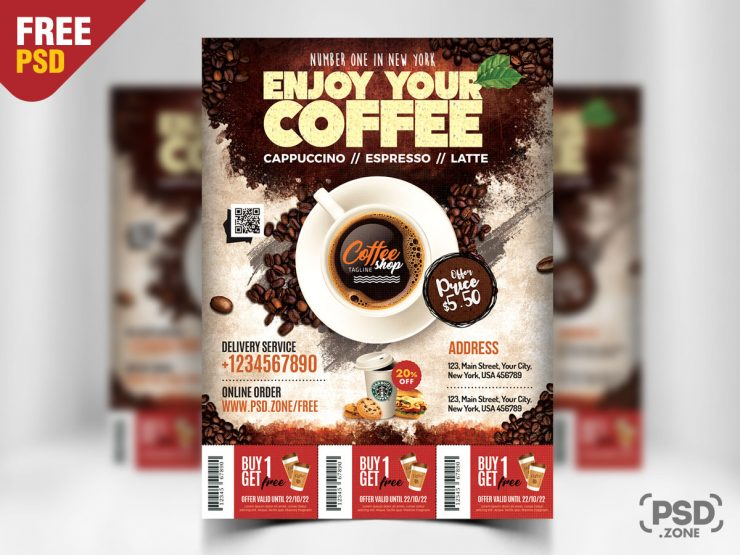 Coffee Shop Flyer Template PSD